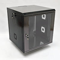 CMS UA-MGSWA126B Шкаф настенный 12U, 600х600х640 мм (Ш*Г*В), акрілове скло, черный UA-MGSWA126B