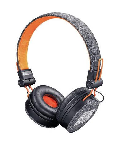Навушники TRUST Fyber On-Ear Mic Sports Чорний (22645), фото 2