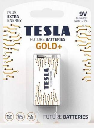Батарейки TESLA  9V GOLD+ (6LR61), 1 штука
