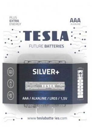 Батарейки TESLA AAA SILVER+ (LR03), 4 штуки