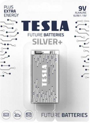 Батарейки TESLA 9V SILVER+ (6LR61), 1 штука