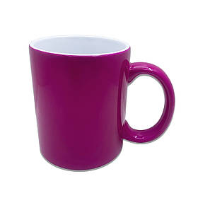 Чашка для сублимации хамелеон ПОЛУМАТОВЫЙ 330 мл (фуксия)
