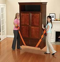 Ремни для переноски грузов, мебели, кробок  Оранж 4,5см на 2,6м Такелажные ремни