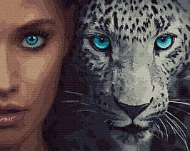 Картина по Номерам Глаза кошки 40х50см RainbowArt