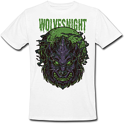 Футболка Fat Cat Wolf - Wolves Night (белая)