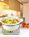 Мармит настольный керамический Maestro MR-10960-72 | блюдо с подогревом на подставке Маэстро, Маестро, фото 2