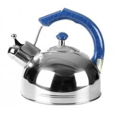 Чайник со свистком из нержавеющей стали Maestro MR-1309 (3 л) синий | металлический чайник Маэстро, Маестро
