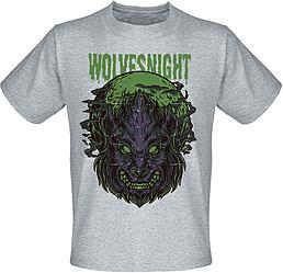 Футболка Fat Cat Wolf - Wolves Night (меланж)
