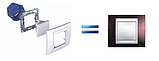 Рамка 3 пост. вертикальная Unica Plus белая MGU6.006V.18, фото 3