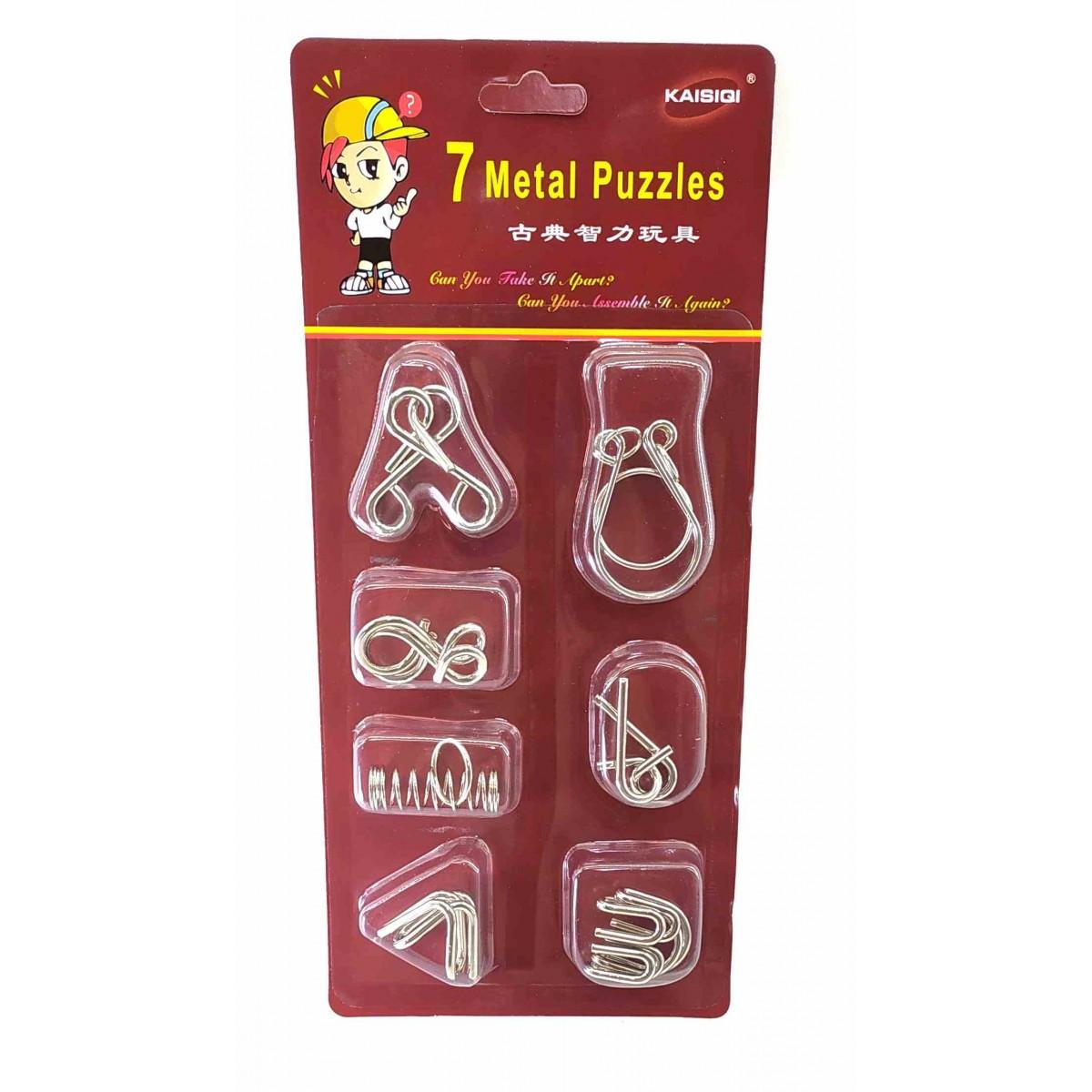 Набор головоломок из металла 7шт   Kaisiqi China