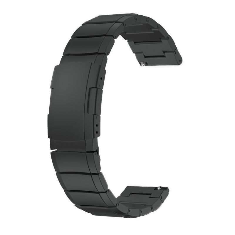 Браслет для часов из нержавеющей стали 316L, литой,черный, мат. 20 мм