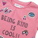 Детские подростковые футболки для девочек подростков 10-13 лет, 140-158 см Minoti, 140-146 см, фото 2