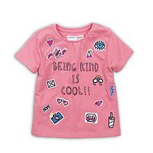 Детские подростковые футболки для девочек подростков 10-13 лет, 140-158 см Minoti, 140-146 см