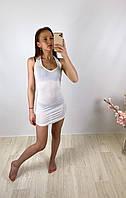Женское белое прозрачное короткое платье PrettyLittleThing, оригинал, Великобритания, размер XS(Укр 38-40)
