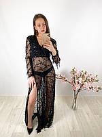 Женское черное макси платье в сетку и пайетки PrettyLittleThing, оригинал, Великобритания, размер L(Укр 44-46)