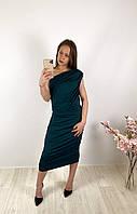 Женское изумрудное платье миди PrettyLittleThing, оригинал, Великобритания, размер XL(42)