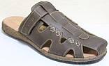 Летние мужские шлепки кожаные, летняя мужская обувь от производителя модель ВА-С51К, фото 2