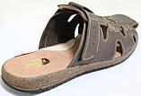 Летние мужские шлепки кожаные, летняя мужская обувь от производителя модель ВА-С51К, фото 5