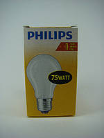Лампа накаливания матовая PHILIPS 75W