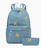 Рюкзак женский Stars 2 в 1 Голубой, фото 1
