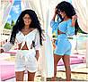 Р 42-46 Літній пляжний костюм сорочка з шортами 21944