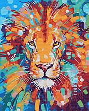 Картина по Номерам Красочный лев 40х50см RainbowArt