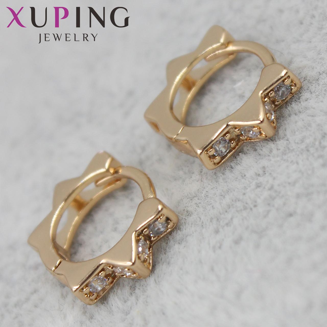 Серьги Xuping медицинское золото