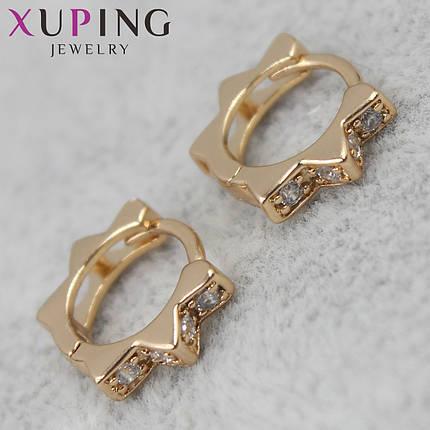 Серьги Xuping медицинское золото, фото 2