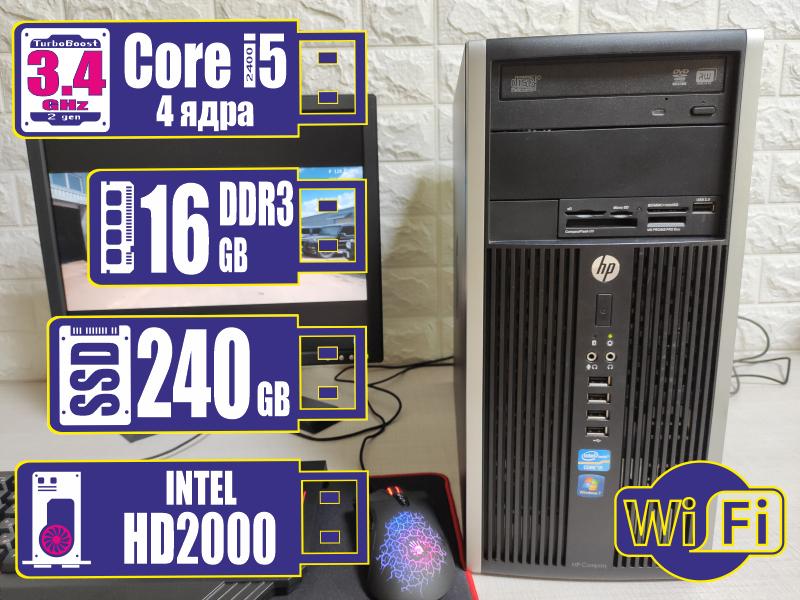 Системный блок HP 6200/8200 micro TOWER Corei5-2400/16Gb/SSD 240Gb +WiFi