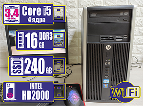 Системный блок HP 6200/8200 micro TOWER Corei5-2400/16Gb/SSD 240Gb +WiFi, фото 2