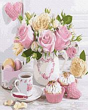 Картина по Номерам Розы и сладости 40х50см RainbowArt