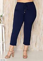 Удобные укороченные летние женские тонкие брюки размеры батал 48-60 арт 1041/405