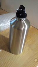 Пляшка для води, алюмінієва, фляга для води з карабіном на 500 мл Металева пляшка туристична, фото 3