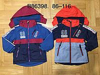 Куртка на флисе для мальчиков оптом, Grace, 86-116 см,  № В86398