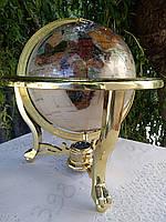Глобус настольный из морских минералов.