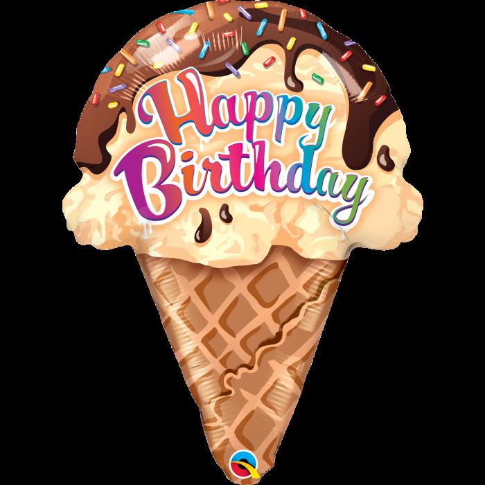 """Q 27"""" Мороженое """"С Днём Рождения"""""""