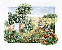 Набор для вышивания нитками LUCA-S Пейзаж с маками (BU4013)