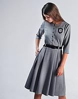 Школьная форма Моне, серое платье в школу р-р 146,158,164