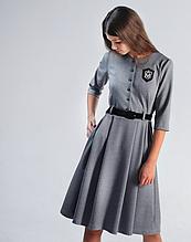 Школьная форма Моне, серое платье в школу р-р 146,158