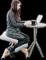 Коленный стул для осанки Ergosit ортопедическое кресло Серое