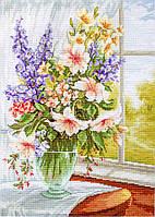 Набор для вышивания нитками LUCA-S Цветы у окна (BU4015)