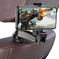 Автомобильный держатель на подголовник Baseus Backseat SUHZ-A01 для телефона в машину Черный