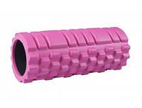 Роллер массажер для кросфита и йоги  Розовый цвет