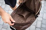 Рюкзак шкіряний чоловічий TRIGGER BRWN коричневий WLKR, фото 7