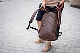 Рюкзак шкіряний чоловічий TRIGGER BRWN коричневий WLKR, фото 6