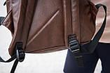 Рюкзак шкіряний чоловічий TRIGGER BRWN коричневий WLKR, фото 8