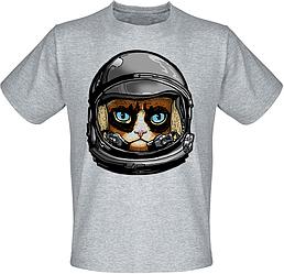 Футболка Fat Cat Grumpy Cat Astronaut (меланж)