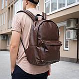 Рюкзак шкіряний чоловічий TRIGGER BRWN коричневий WLKR, фото 5