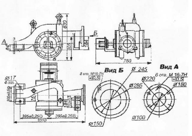 чертеж насос ЦСП-57