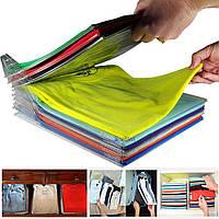 Органайзер для аккуратного хранения одежды EZSTAX T-shirt organizing system до 10 единиц одежды прозрачный